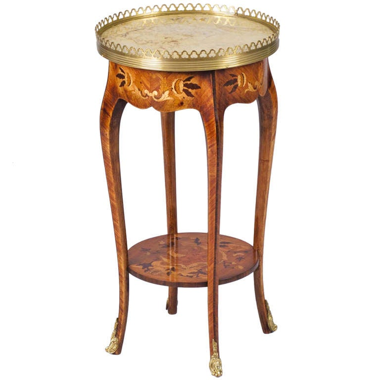 louis xv style end table with marquetry at 1stdibs. Black Bedroom Furniture Sets. Home Design Ideas