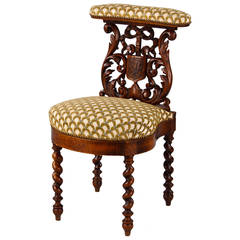Late 1800s French Renaissance Revival Style Smoker's Chair