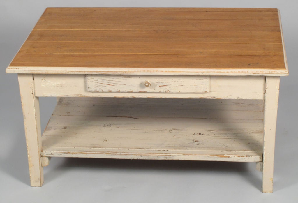 French Country Painted Coffee Table At 1stdibs