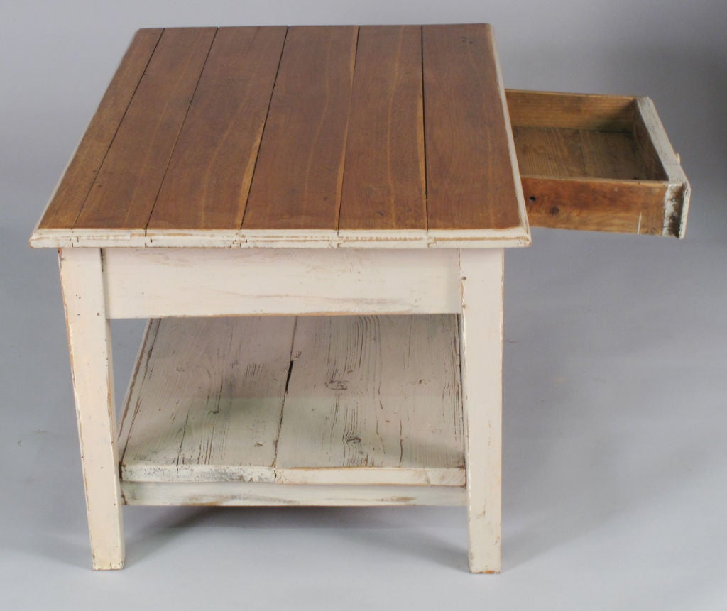 French Provincial Coffee Table For Sale: French Country Painted Coffee Table At 1stdibs