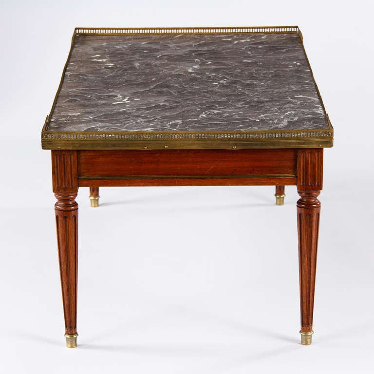 French Louis Xvi Style Marble Top Coffee Table At 1stdibs