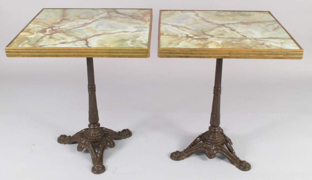 Pair of mid century french bistro tables at 1stdibs for Mid century bistro table