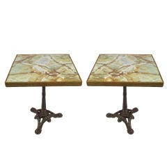 Pair of Mid-Century French Bistro Tables