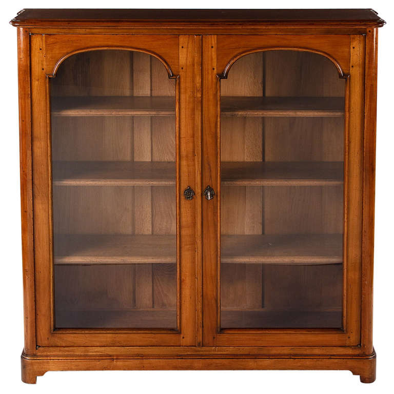Louis Philippe Open Bookcase: Louis XIV Style Cherrywood Bookcase At 1stdibs