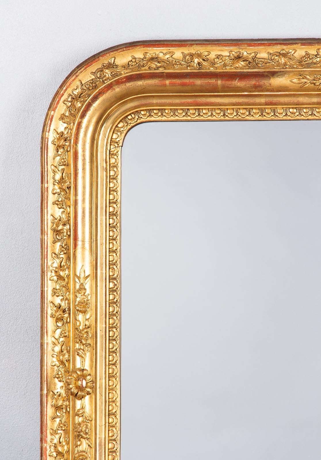 French Napoleon Iii Gold Leaf Mantel Mirror 1870s At 1stdibs