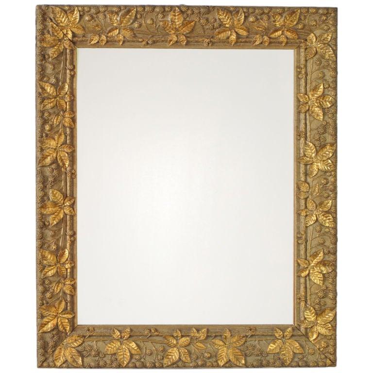 Gold leaf mirror frame