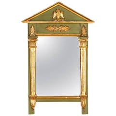 French Empire Style Painted Mirror, 1920s