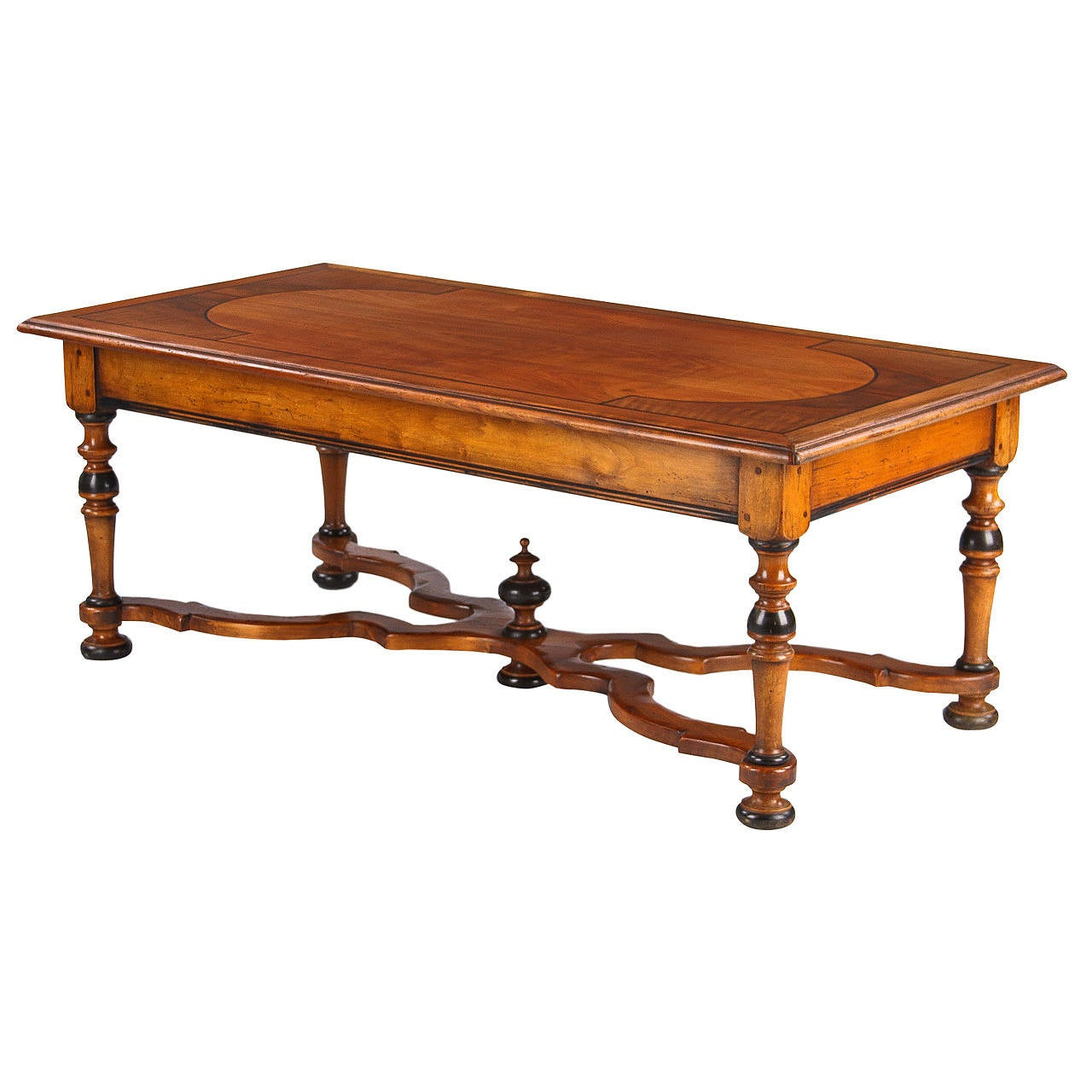 French Louis XIV Style Cherrywood Coffee Table, Early 1900s 1