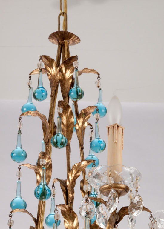 Mid-Century Tear Drop Crystal Chandelier image 5