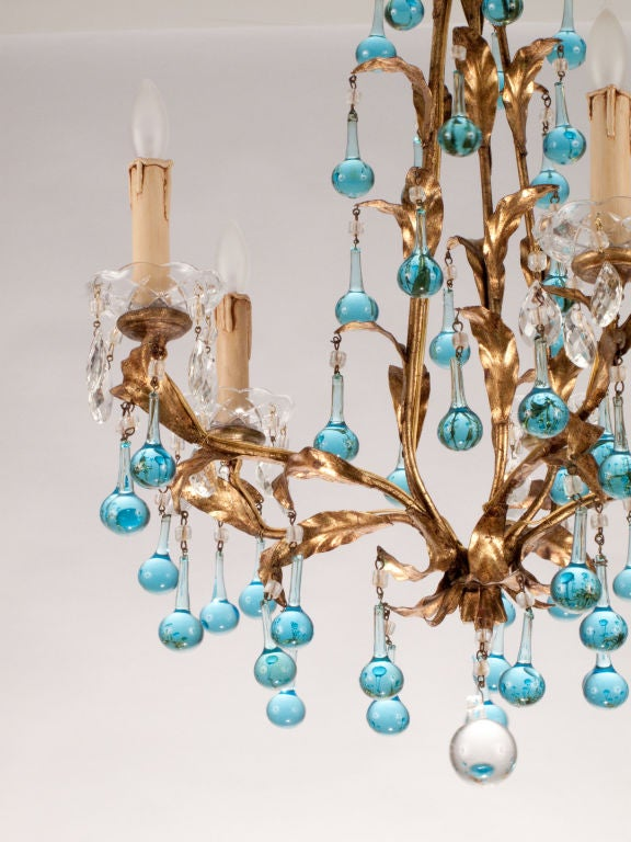 Mid-Century Tear Drop Crystal Chandelier image 6
