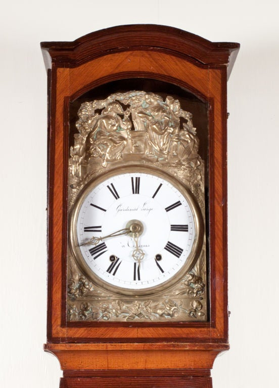 French Comtoise Grandfather Clock at 1stdibs