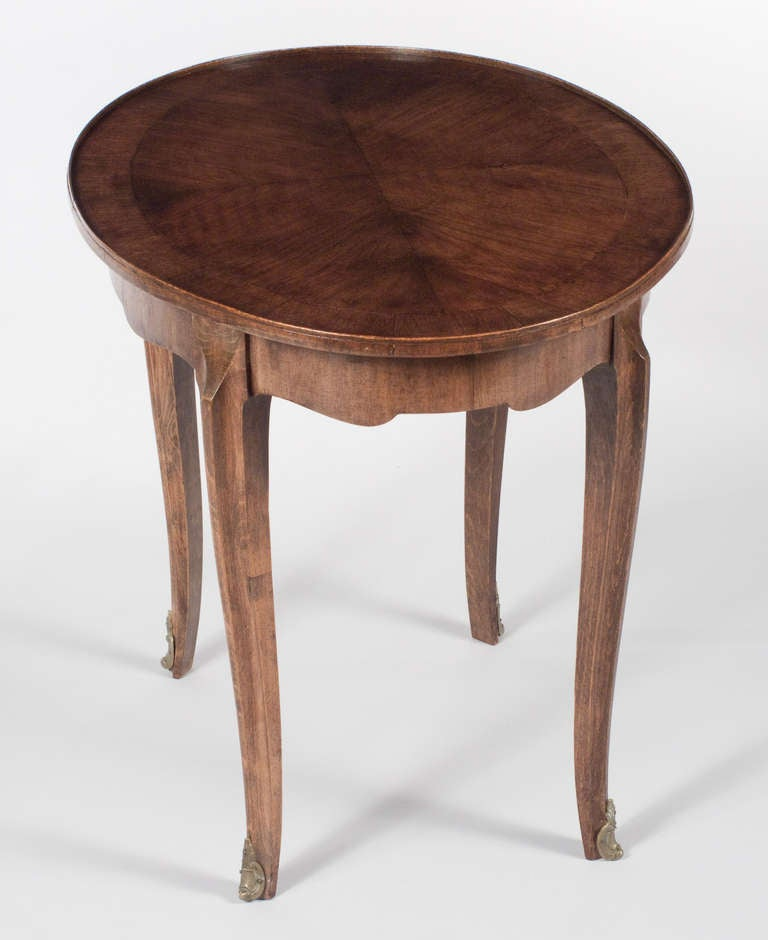 Louis xv style oval side table at 1stdibs - Table louis xv ...