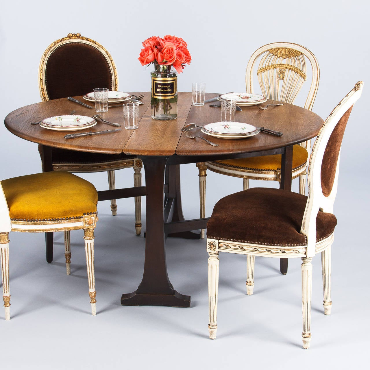 Midcentury Oak Gateleg Table by Ercol England at 1stdibs