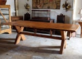 French Country Rustic Farm Dining Table thumbnail 2
