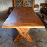 French Country Rustic Farm Dining Table thumbnail 3