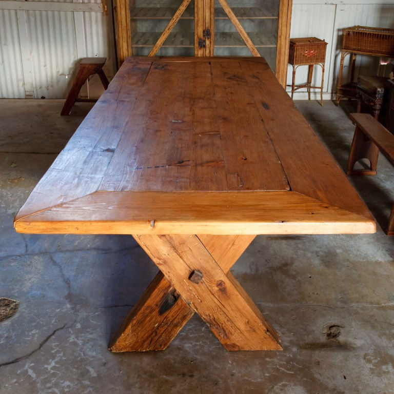 French Country Rustic Farm Dining Table image 3