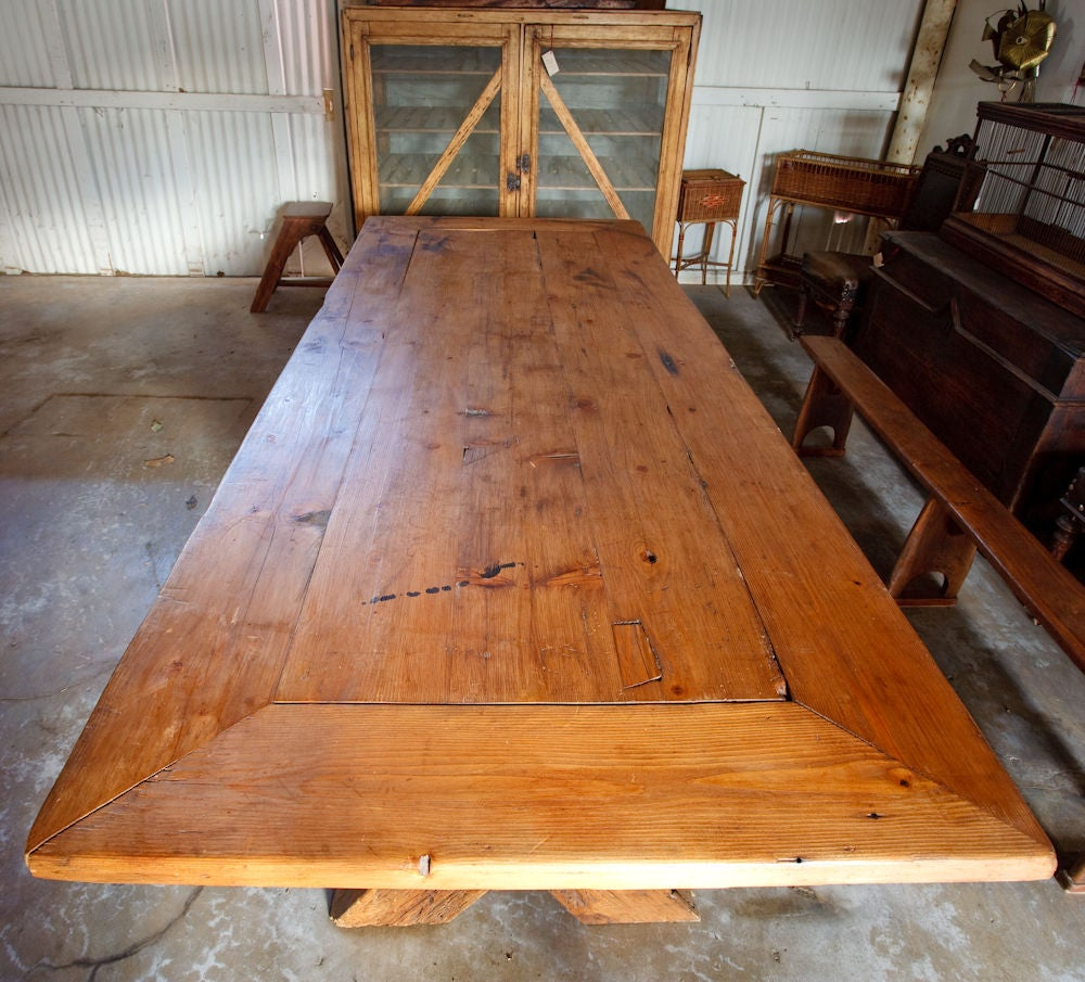 French Country Rustic Farm Dining Table image 4