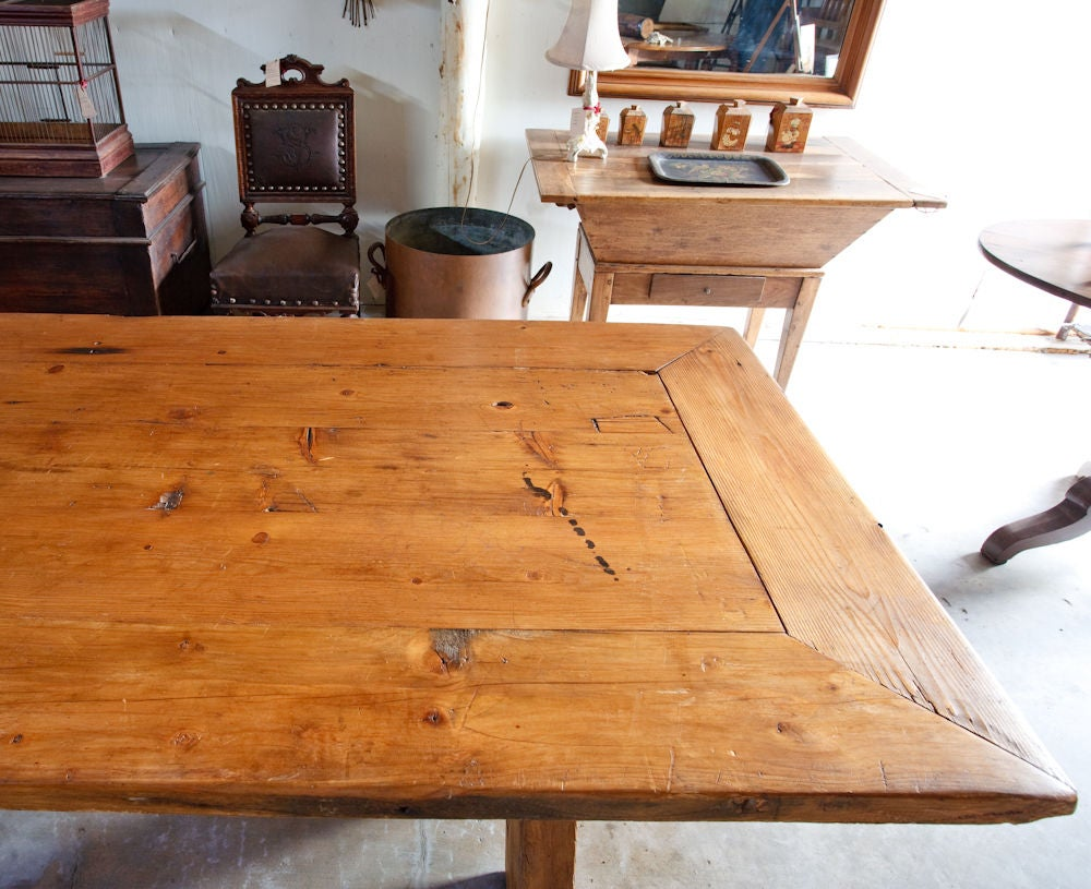 French Country Rustic Farm Dining Table image 5
