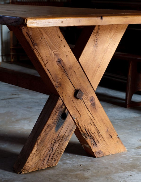 French Country Rustic Farm Dining Table image 8