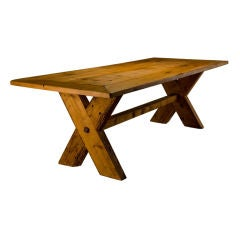 French Country Rustic Farm Dining Table thumbnail 1