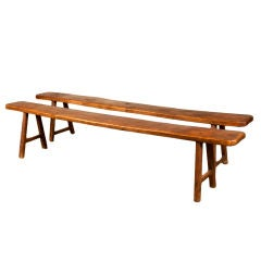 Pair of French Country Farm Benches