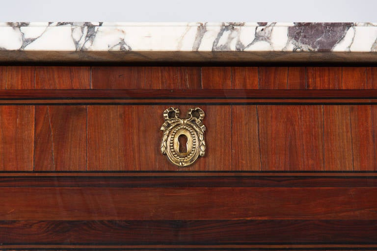 French Louis XVI Style Rosewood Corner Cabinet, 1900s For Sale 2