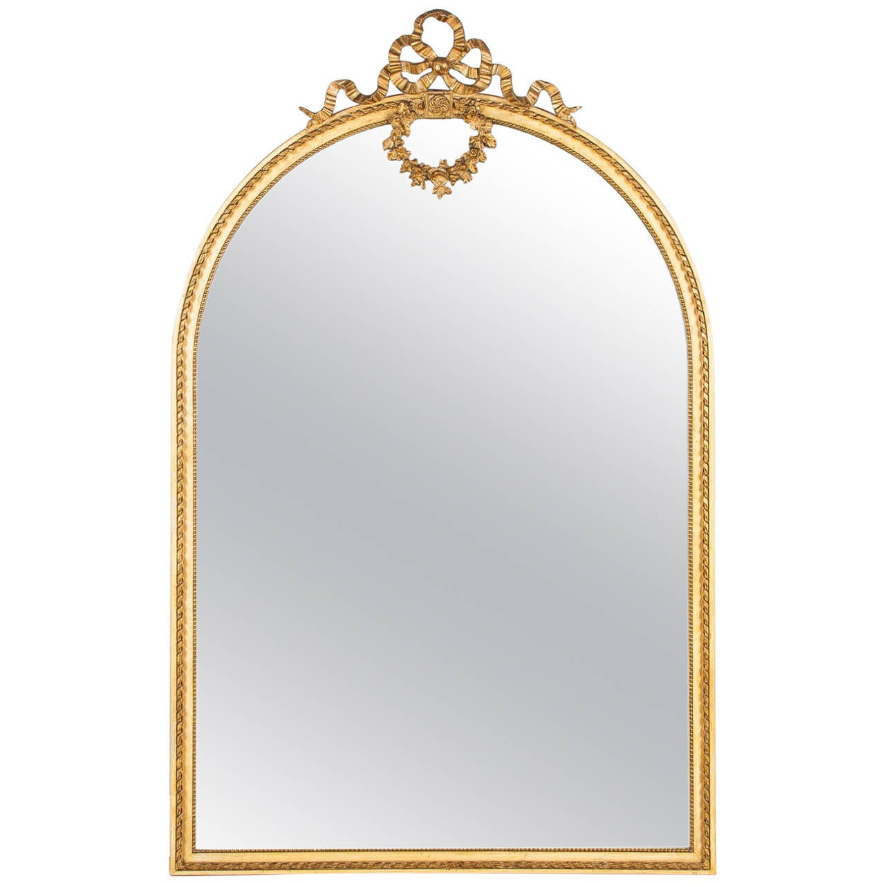 Arched gilt mirror at 1stdibs - French Louis Xvi Full Length Mirror Late 1800s 1