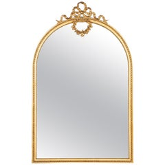 French Louis XVI Full Length Mirror, Late 1800s