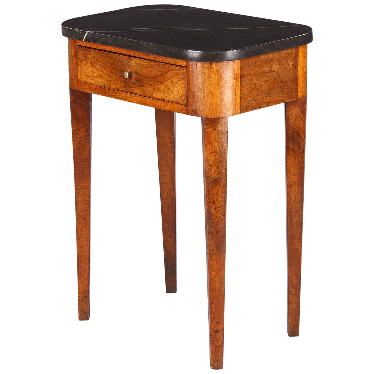 19th century french louis philippe marble top side table for Table th visible