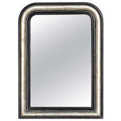 French Louis Philippe Silver Leaf Mirror, 19th Century