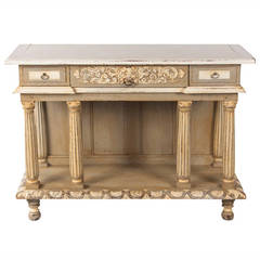 French Renaissance Revival Painted Sideboard, Late 1800s