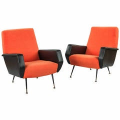 Pair of French 1960s Armchairs