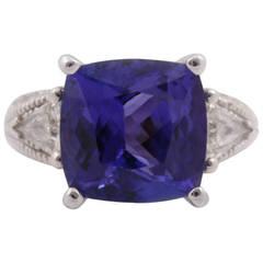 8.36 Carat Tanzanite Diamond Gold Ring