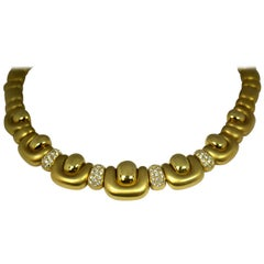 Marlene Stowe Gold Necklace with Diamonds