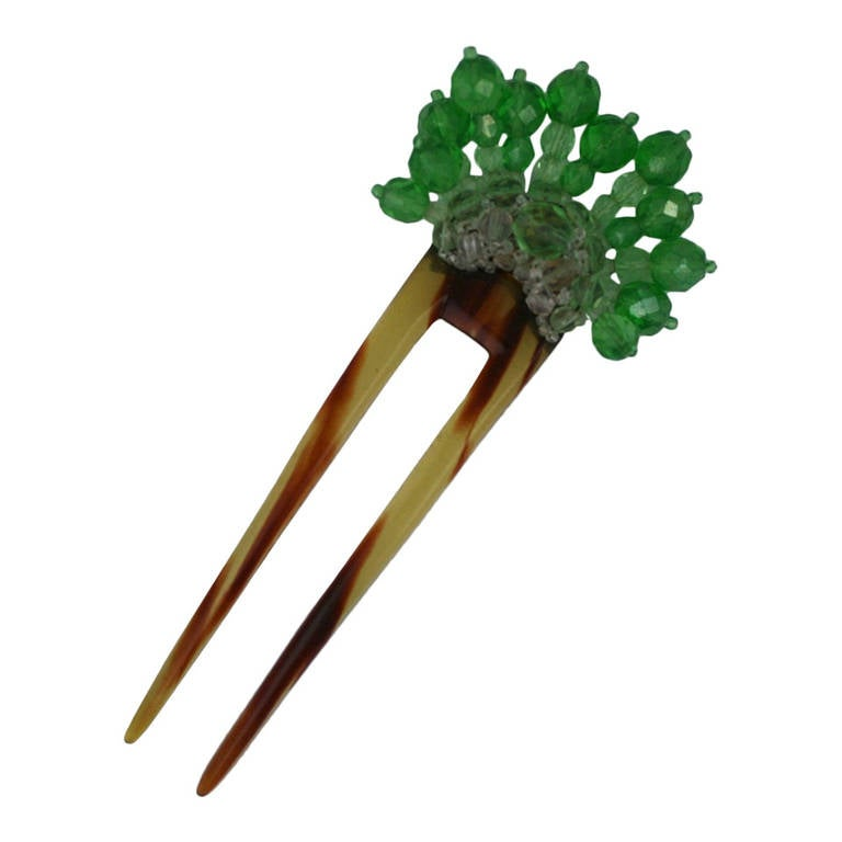 Coppola e Toppo Green  Crystal Hair Comb 1