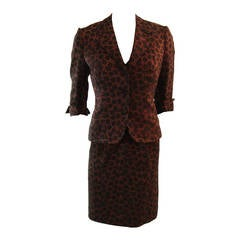 Stunning Mingolini Guggenheim Brown and Black Beaded Couture Dress Set