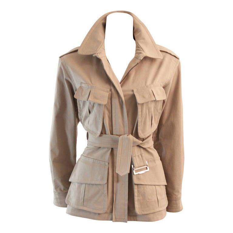 Yves Saint Laurent Rive Gauche Utility Safari Jacket Size