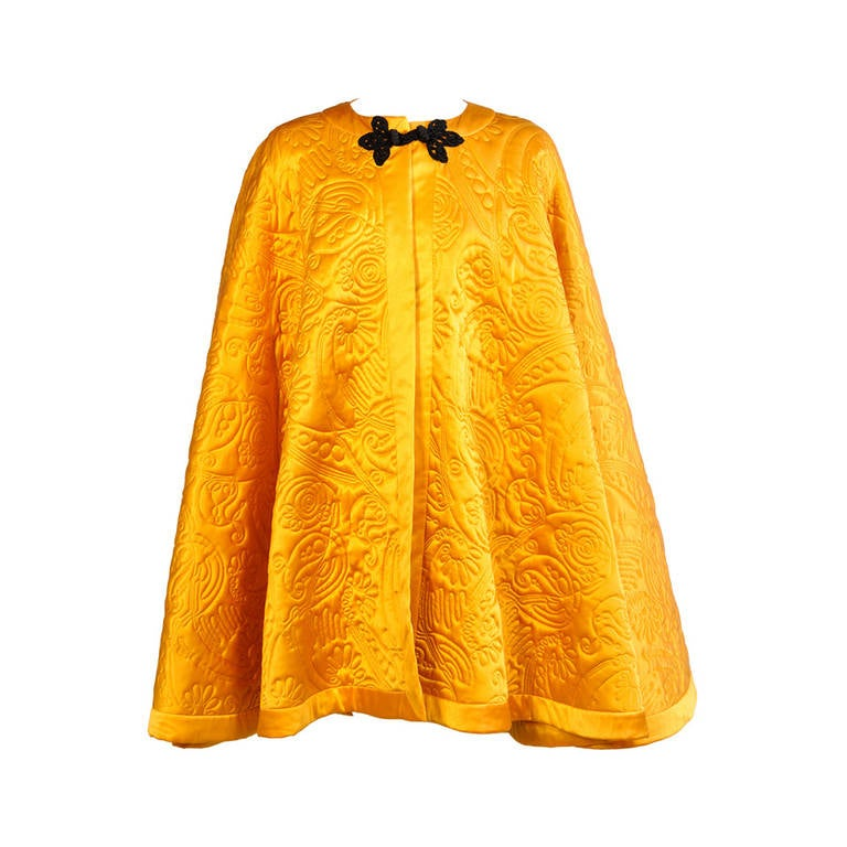 Yves Saint Laurent Quilted Silk Cape 1