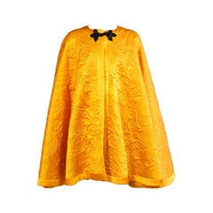 Yves Saint Laurent Quilted Silk Cape