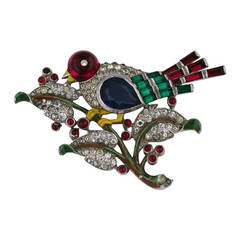 Trifari Alfred Phillipe Art Deco Bird Brooch