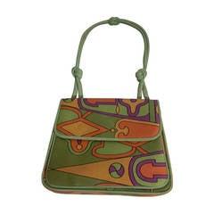 1960s Koret Silk Print Hand Bag