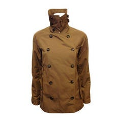 Yves Saint Laurent Khaki Double Breasted Rain Coat