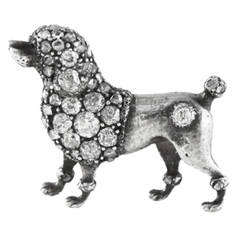 Antique Poodle Diamond Brooch