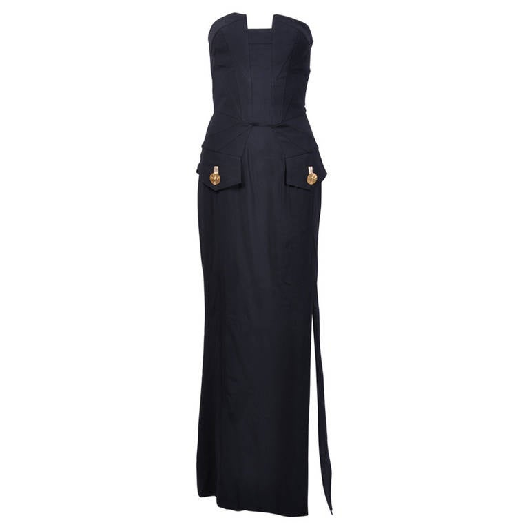 New VERSACE Black Long Dress Mila Kunis wore on the red carpet 1