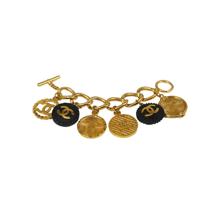 Chanel Resin and Gold Charm Bracelet 1