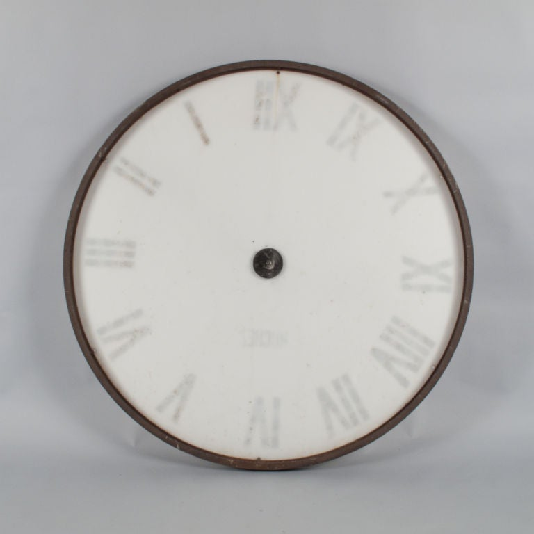 1940's French Industrial Clock Face 3