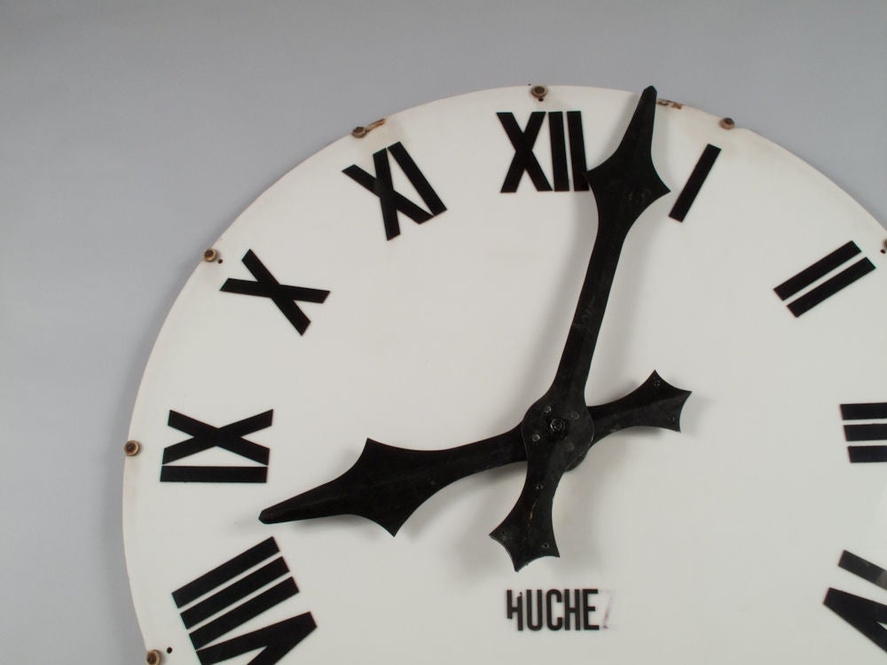 1940's French Industrial Clock Face 5