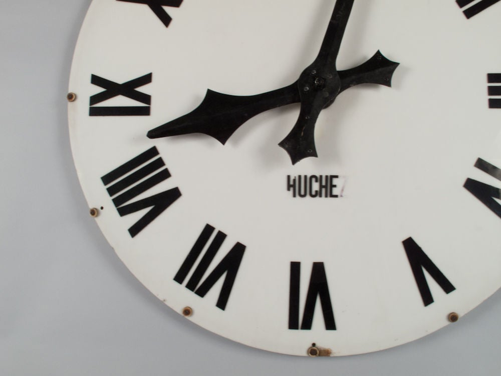1940's French Industrial Clock Face 6