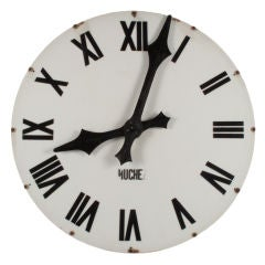 1940's French Industrial Clock Face