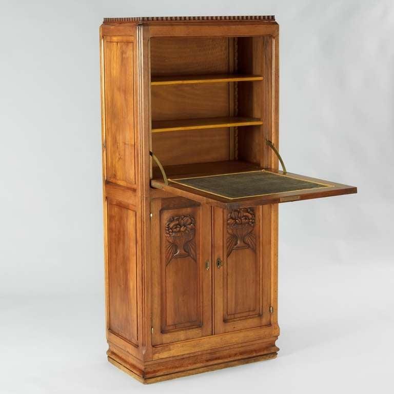 french art deco secretaire at 1stdibs. Black Bedroom Furniture Sets. Home Design Ideas